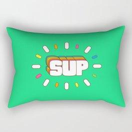 Sup! Colorful meme fun Rectangular Pillow