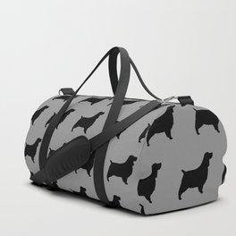 English Springer Spaniel Silhouette Duffle Bag