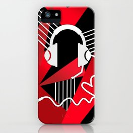 Red Love Gamer Headset iPhone Case