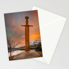Llanberis Lake and Sword Snowdonia Stationery Cards