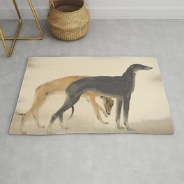 Two Greyhounds Rug