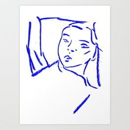 Reclining woman Art Print