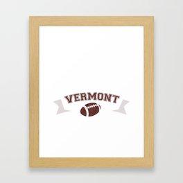 Just a Baller from Vermont Football Player Framed Art Print