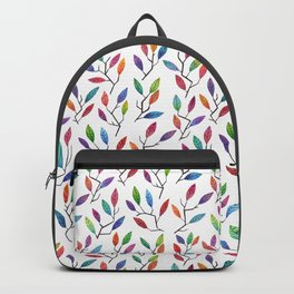 Leafy Twigs - Multicolored Backpack