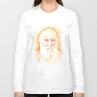 darwin Long Sleeve T-shirts featuring CHARLES DARWIN by willeyworks