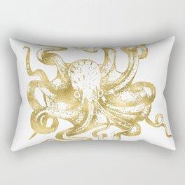 Gold Octopus Rectangular Pillow