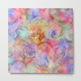 Painted Anemone Flowers 2 Metal Print
