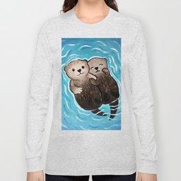 Family Friendly Otter Long Sleeve T-shirt