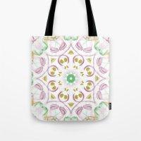 tye dye Tote Bags featuring Kaleidoscope Tye Dye  by Skrinkladado