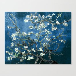 Van Gogh Almond Blossoms : Ocean Blue Canvas Print