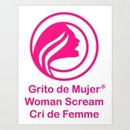 Cri de Femme Cadeaux Art Print