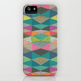 Colorblock Tribal Triangle Pattern iPhone Case