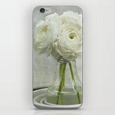 White on White Ranunculus Flower Bouquet -- Spring Botanical -- Floral Still Life iPhone & iPod Skin