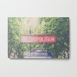 Paris metropolitan ... Metal Print