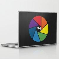 aperture Laptop & iPad Skins featuring Capture The Unicorn by Erik Sandi Satresa