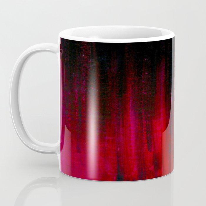 Red and Black Abstract Coffee Mug