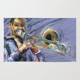 Jazz Trombonist Rug