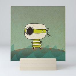 Green Pirate Mini Art Print