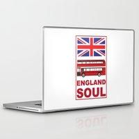 england Laptop & iPad Skins featuring England Soul by Tony Vazquez
