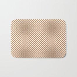 Butterum and White Polka Dots Bath Mat