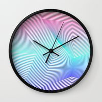 miami Wall Clocks featuring Miami by Three of the Possessed