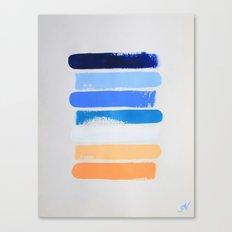 Abstract Beach Canvas Print