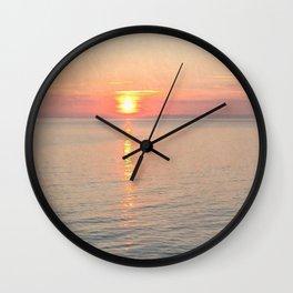 Sunset reflections textured Wall Clock