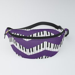 Chevron in the key of purple Fanny Pack