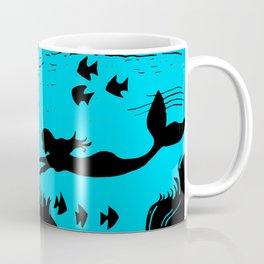 Mermaid Silhouette Art Coffee Mug