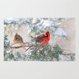Remembering.... (Northern Cardinals) Rug