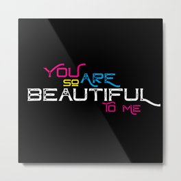 Beautiful CMYK Metal Print
