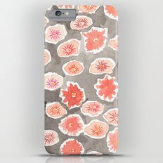 Watercolor flowers pink and gray by robayre iPhone 6 Plus Slim Case