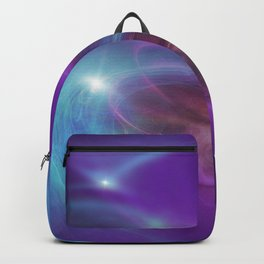Gravitational Distort Space Abstract Art Backpack
