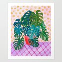 Split Leaf Philodendron Houseplant Painting by sewzinski