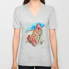 Alamo Drafthouse watercolor Unisex V-Neck