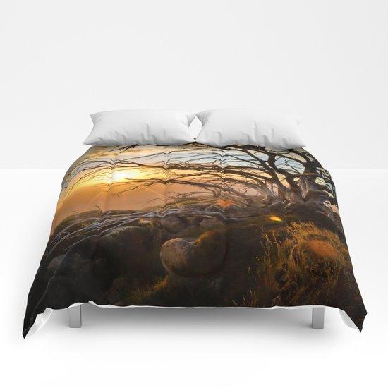 Mountain Sunset Comforters