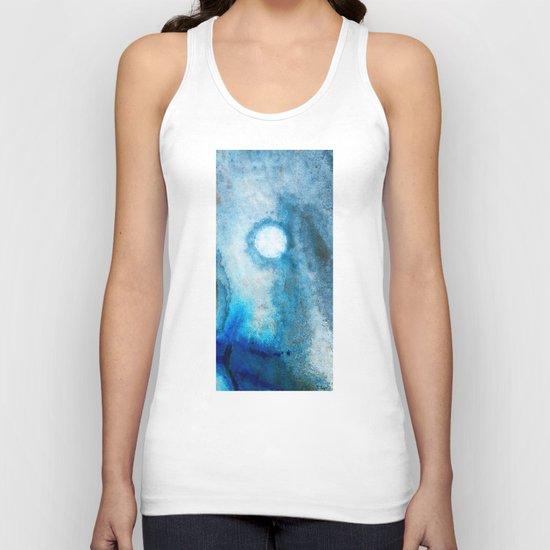 Abstract Landscape Art - Blue Moon - By Sharon Cummings  Unisex Tank Top