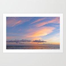 Sherbet Sunset Art Print