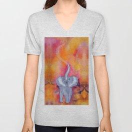 For the Love of Elephants Unisex V-Neck