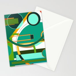 D is for Deco: Abstract Art Deco Font Typography Stationery Cards