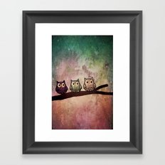 owl-105 Framed Art Print