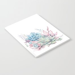 Pretty Pastel Succulents Notebook