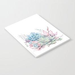 Pretty Pastel Succulents Notebook