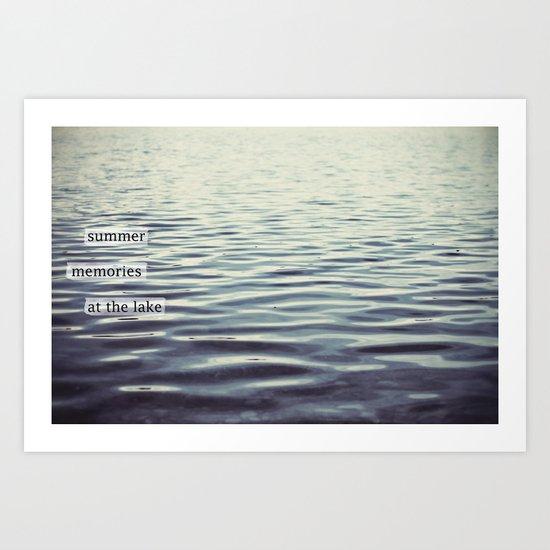 summer memories at the lake Art Print