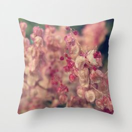 Rumex flower Throw Pillow