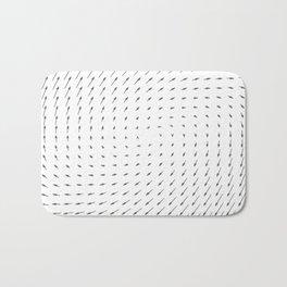 Vector Field basic - Gray Bath Mat