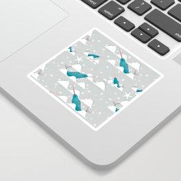 Sea unicorn - Narwhal grey Sticker