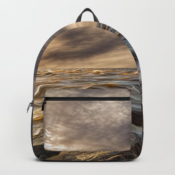 Where The River Kisses The Sea Backpack