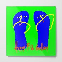 Happy Flip Flops Metal Print