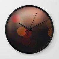 bokeh Wall Clocks featuring Bokeh by Simon + Moose Creative